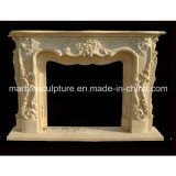 Bege Flower Surround Marvel Fireplace Mantel (SY-MF047)