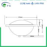 Luz subaquática ao ar livre mais grossa branca/fresca morna da piscina do diodo emissor de luz do vidro 35W RGB PAR56 do branco IP68