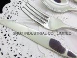 Jeu de vaisselle de couverts de restaurant d'hôtel de fourche de couteau de cuillère d'acier inoxydable
