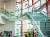 Railing балюстрады Semi-Frameless внешнего балкона безопасности стеклянный/стеклянных с тупиком нержавеющей стали ранга