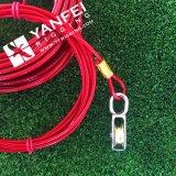 Emergenza resistente 2-6 tonnellate dell'automobile del cavo del rimorchio di rimorchio di corda della cinghia con gli ami