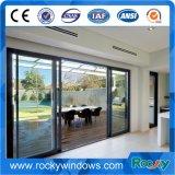 Порошковое покрытие ламинированное стекло боковой сдвижной двери и окна из алюминия