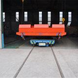 Управляемый батареей промышленный автомобиль переноса рельса для алюминиевой фабрики на рельсах