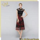 Form-schwarzes Chiffon- Druckbüro-Kleid