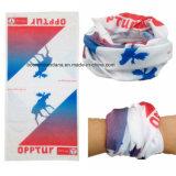 Полиэфир продукции OEM фабрики Китая подгонял напечатанный логосом выдвиженческий шарф пробки шеи