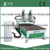 Router de madeira com gravura do CNC de 2 eixos e máquina de estaca