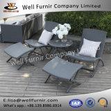 Rattan buono di Furnir Wf-17011 gruppo della disposizione dei posti a sedere delle 5 parti con i cuscini posteriori