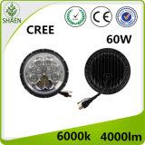7 Zoll 60W runder CREE LED Scheinwerfer für Jeep
