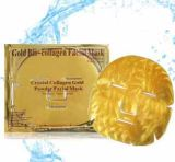 Máscara facial de colágeno de ouro em pó