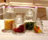 Frasco do armazenamento do Sell quente/recipiente de alimento de vidro com tampa/Kitchenware de vidro