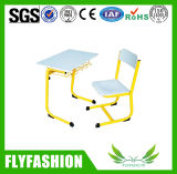 Mesa da escola da mobília moderna da sala de aula única com cadeira (SF-55S)