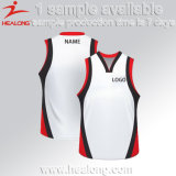 Uniforme conservado em estoque barato ajustado do basquetebol da equipe da camisola dos esportes do homem de Healong