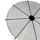 Revestimento a pó malha de arame soldado a proteção da grade do ventilador
