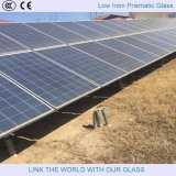 vidrio modelado claro adicional de 3.2mm/4m m para el panel solar