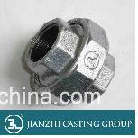 Bronze maleável da união do ferro de molde do assento cónico para passar o assento