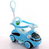 Vier Rad-Plastikkind-Fahrt auf Wiggle-Auto mit Musik
