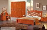 Mobiliário de quarto de alta qualidade, cama de madeira, cama de hotel (201)
