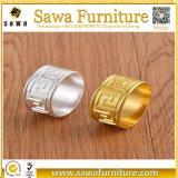 Acryllucite-Blumen-Knospe-Quadrat-Serviette-Ring