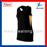 Voleibol profesional Jersey de la impresión de la pantalla de seda de la ropa de deportes de Healong