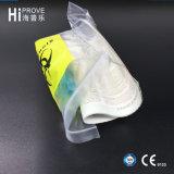 Ht-0619 de kleurrijke LDPE 4-muren Medische Plastic Zakken van de Verbinding van het Vervoer van het Specimen Zelf