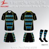 Healong中国の安い価格の衣服は最も遅く円形の首とのラグビージャージーを設計する