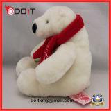 Pluche van Teddy van het Stuk speelgoed van de Ijsbeer van Scarve draagt de Witte Stuk speelgoed