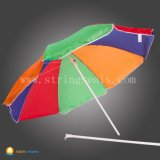 印刷マニュアルの開いたまっすぐな傘