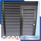 Ventilation Sun Control Aluminium Fixed Louver / Architectural Steel Iron Shutter