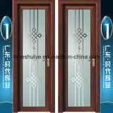 Portas de alumínio do banheiro do Casement do vidro geado para a decoração interior