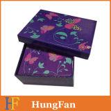 Rectángulo de empaquetado modificado para requisitos particulares del regalo de papel rígido con la laminación brillante
