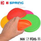 Frisbee pour chien d'animal domestique Disque volant résistant aux dents Silicone à l'extérieur Grand chien Training Fetch Toy