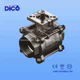 Steel di acciaio inossidabile 3PC Mounting Pad Ball Valve con New Type
