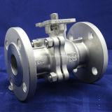 Válvula de esfera de aço inoxidável flangeada 2PC com alça fechada
