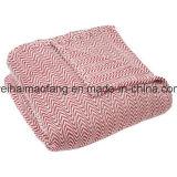 Coperta pura Herringbone tessuta del cotone