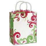 Sac de papier en tissu Fantasia Shoppers pour l'emballage et le magasinage avec poignée