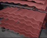 Strato d'acciaio di alluminio ricoperto e galvanizzato rivestito di pietra delle mattonelle di tetto del metallo/sabbia di colore del tetto