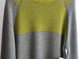 人の冬の長い袖は編まれたセーターを模造した