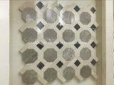 Hexagonal de hermoso diseño mosaico de mármol
