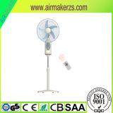 La energía solar AC/DC, Ventilador recargable con indicador LED/mando a distancia