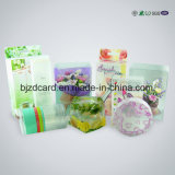 Rectángulo claro plegable del PVC del plástico del regalo que empaqueta para el cosmético