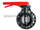 Válvula de /Industrial da válvula de borboleta do PVC do plástico UPVC/selo válvula EPDM da água com o punho nivelado manual (GT218)