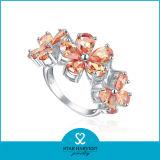 El encanto de plata Anillo Masónica en forma de flor (SH-R0183)