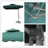 Stahlregenschirm-Garten-im Freienregenschirm-hängender Sonnenschirm des schlüssel-2.5X2.5meter
