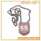 Custom Logo Anti Silver Sport Medal com Cadeia de Metal (YB-MD-09)