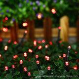 Солнечный приведенный в действие свет шнура рождества 100 СИД цветастый напольный