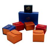 Papel de fantasía de color hecho pequeña caja de regalo para la joyería