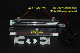 304 Edelstahl 1g pro minuziösen UVreinigungsapparat/Sterilisator-+ chinesisches der Lampen-11/12W Gefäß