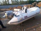 2016 Novo Modelo 4m de barco inflável rígida costela390c barco de borracha Hypalon com marcação CE de barco de pesca