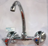 Mitigeur de cuisine à évier durable: Poignée en zinc de corps en laiton (BM57707)