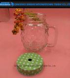 tarro de masón de cristal de la dimensión de una variable transparente de la piña 180ml con la maneta